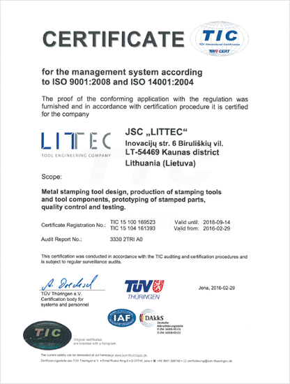 certificate iso9001 14001